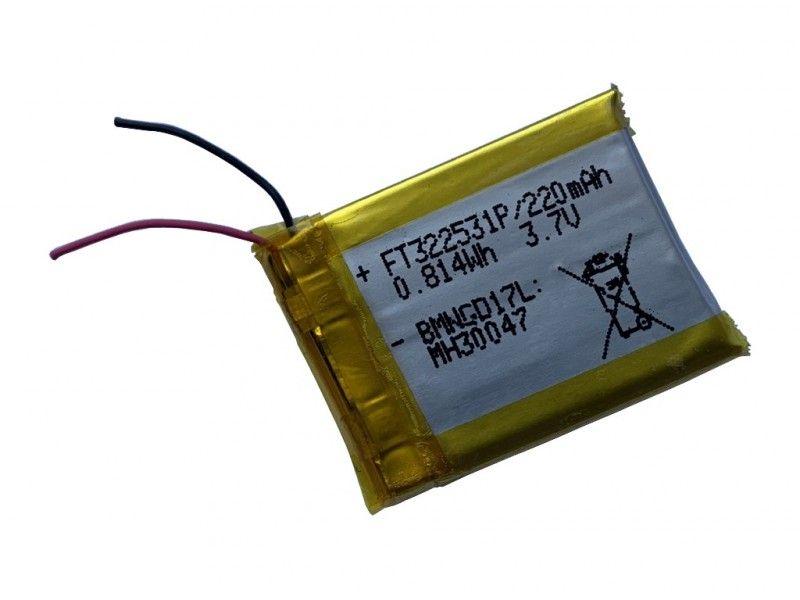 Akumulator Li-po 3,7V 220mAh FT322531P - Foto1