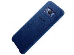 Etui Samsung Galaxy S8 Plus Alcantara Cover Blue - Foto1
