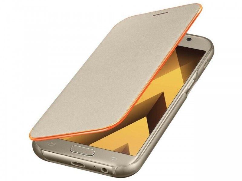 Etui Samsung Galaxy A5 (2017) Neon Flip Cover Gold - Foto1