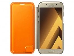 Etui Samsung Galaxy A5 (2017) Neon Flip Cover Gold - Foto2