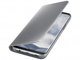 Etui Samsung Galaxy S8 Plus Clear View Standing Cover Silver - Foto1