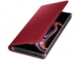 Etui Samsung Galaxy Note 9 Leather Wallet Cover Red - Foto1