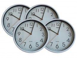 4 szt. zegar ścienny Mebus H366-WH 25cm biały - Foto1
