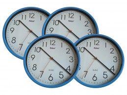 4 szt. zegar ścienny Mebus H366-BU 25cm niebieski - Foto1