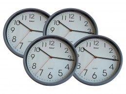 4 szt. zegar ścienny Mebus H366-GY 25cm szary - Foto1