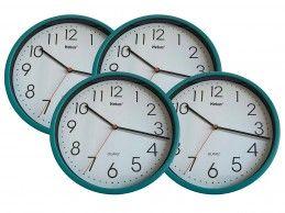 4 szt. zegar ścienny Mebus H366-GR 25cm zielony turkusowy - Foto1