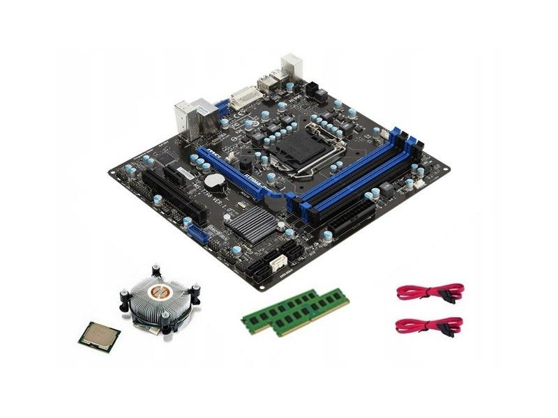 MSI B75MA-P45 + i5 + 8GB DDR3 + Cooler - Foto1