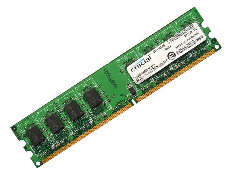 RAM Crucial 2GB DDR2 CT25664AA800.M16FH - Foto1