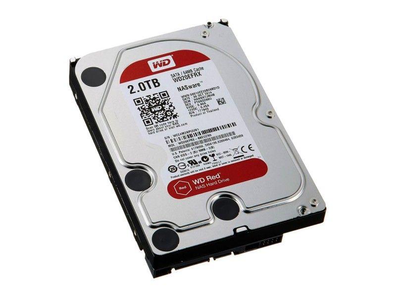 "WD Red WD20EFRX NAS 2TB 3,5"" SATA - Foto1"